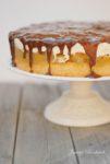 Apfel Pfirsich Torte mit Schokoguss