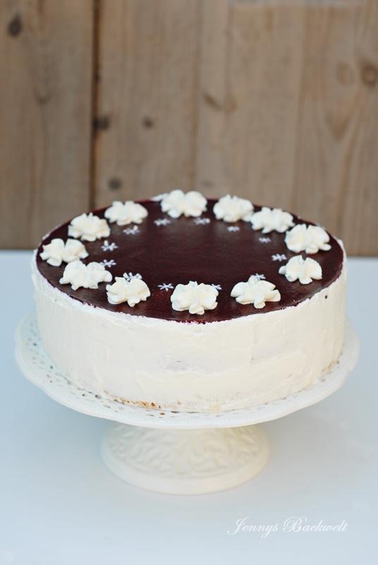 Brombeer-Kokos Torte