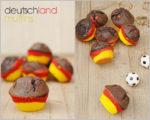 Deutschland Muffins in schwarz, rot und gold
