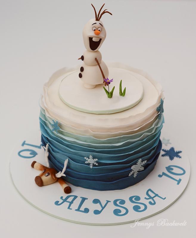 Eiskonigin Torte Mit Olaf Und Sven Zum Geburtstag Jennys Backwelt