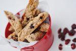 {In der Weihnachtsbäckerei} Lebkuchen Cantuccini mit Cranberries