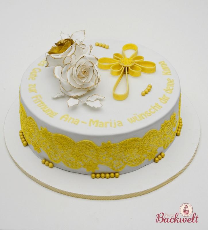 Goldene Torte Zur Firmung Jennys Backwelt