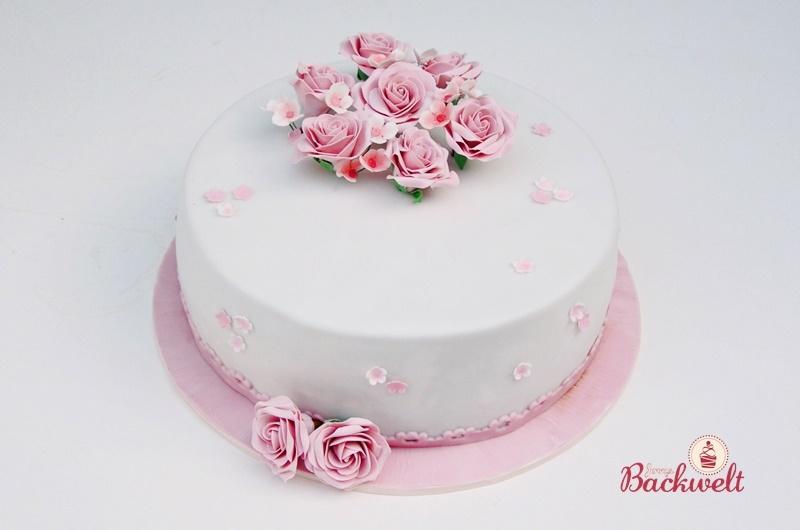 Kleine Hochzeitstorte In Rosa Jennys Backwelt