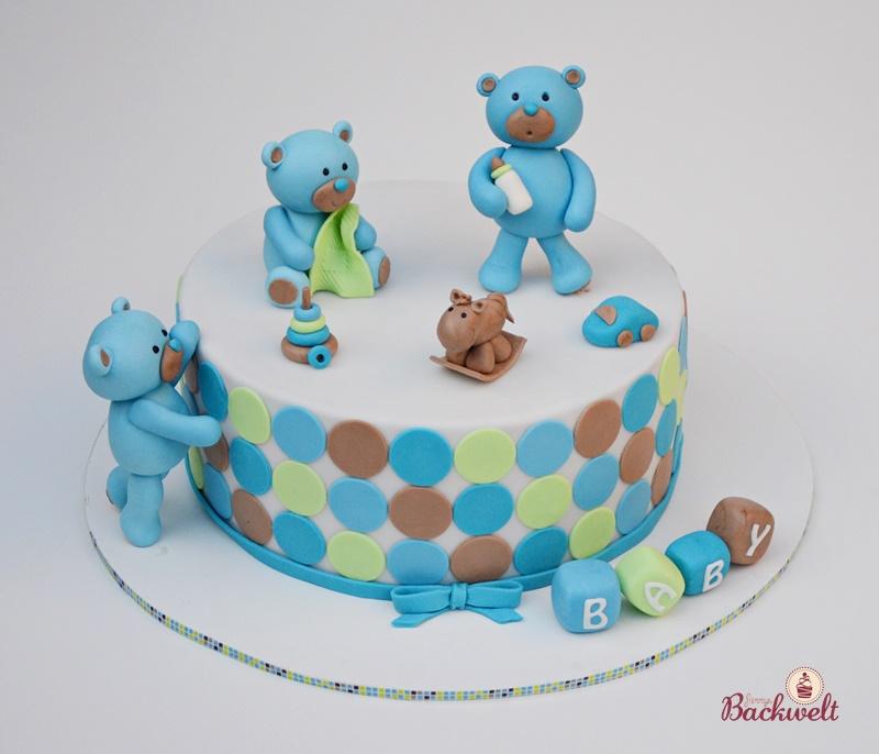 Bärchen Torte Zur Baby Shower Jennys Backwelt