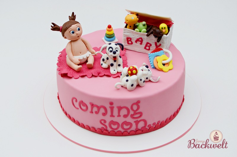 Torte Fur Eine Babyparty Jennys Backwelt