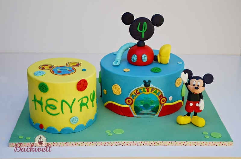 Mickey Mouse Wunderhaus Torte Zum 4 Geburtstag Jennys Backwelt