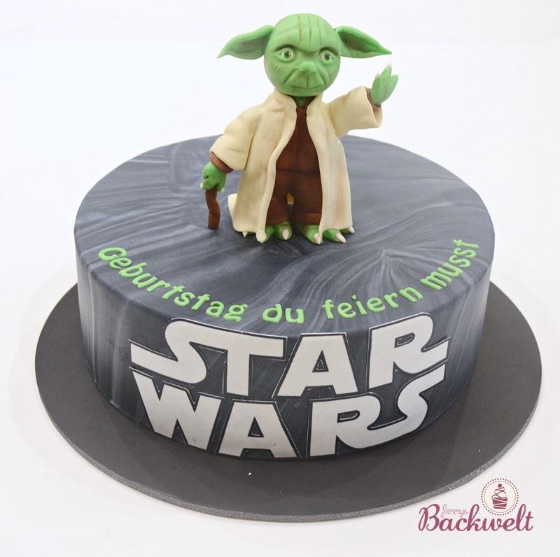 Star Wars Torte mit Yoda