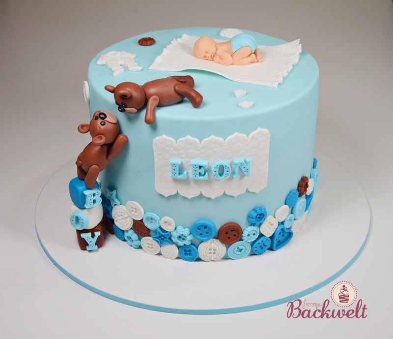 Baby Party Torte mit Baby und Bärchen