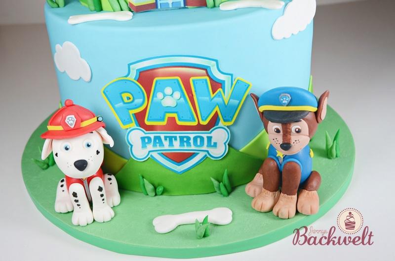 Paw Patrol Torte mit Chase und Marshall