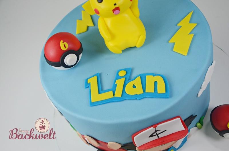 Pokemon Torte mit Pikachu