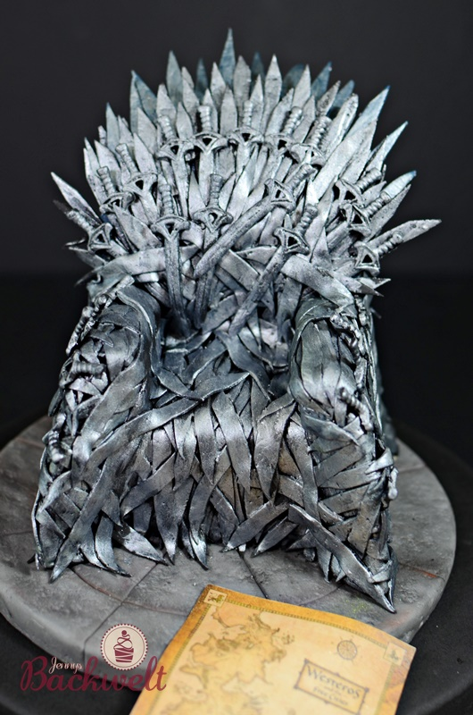 Game of Thrones Torte - Eiserner Thron