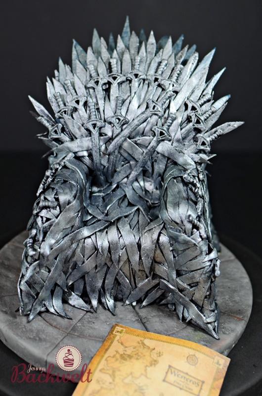 Game of Thrones Torte - Eiserner Thron