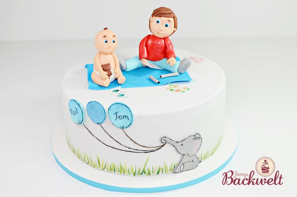 Baby Shower Torte Geschwister Jennys Backwelt